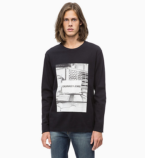 CALVIN KLEIN JEANS Long Sleeve Printed T-shirt - CK BLACK/WHITE - CALVIN KLEIN JEANS CLOTHES - main image
