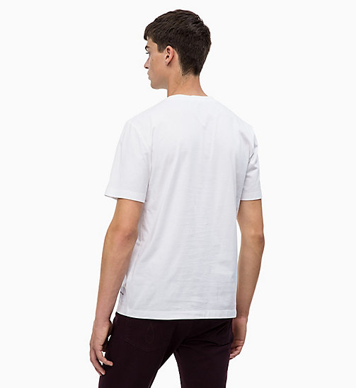 CALVIN KLEIN JEANS Футболка с логотипом - BRIGHT WHITE/BLACK -  LOGO SHOP - подробное изображение 1