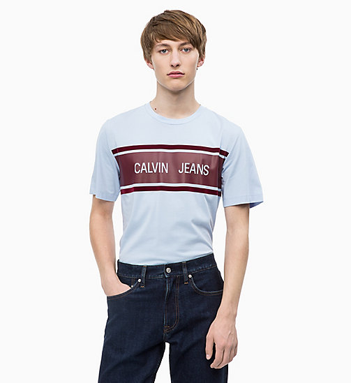 CALVIN KLEIN JEANS T-shirt avec logo - CHAMBRAY BLUE / TAWNY PORT - CALVIN KLEIN JEANS The New Off-Duty - image principale