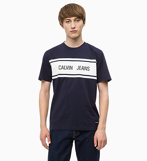 CALVIN KLEIN JEANS T-shirt avec logo - NIGHT SKY/WHITE - CALVIN KLEIN JEANS The New Off-Duty - image principale
