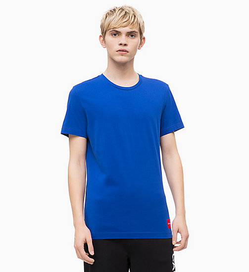 CALVIN KLEIN JEANS Organic Cotton T-shirt - SURF THE WEB/TOMATO - CALVIN KLEIN JEANS NEW IN - main image