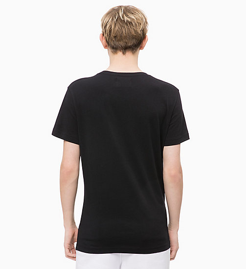 CALVIN KLEIN JEANS Organic Cotton T-shirt - CK BLACK/PUMKIN RED - CALVIN KLEIN JEANS NEW IN - detail image 1