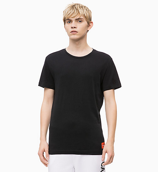 CALVIN KLEIN JEANS Organic Cotton T-shirt - CK BLACK/PUMKIN RED - CALVIN KLEIN JEANS NEW IN - main image