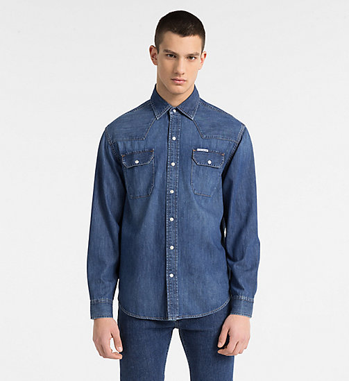 CALVIN KLEIN JEANS Western Denim Shirt - DENMARK BLUE -  CLOTHES - main image