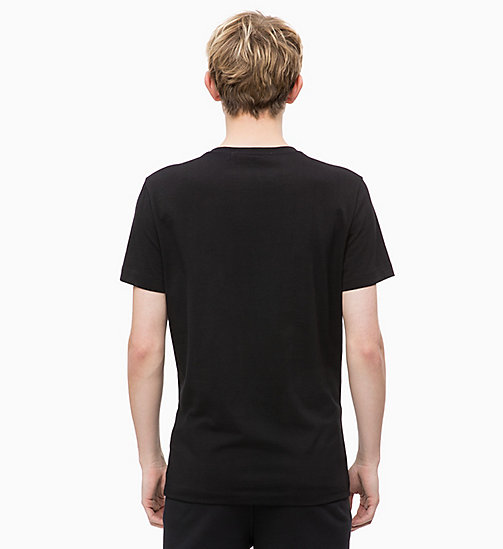 CALVIN KLEIN JEANS Slim Printed T-shirt - CK BLACK - CALVIN KLEIN JEANS NEW IN - detail image 1