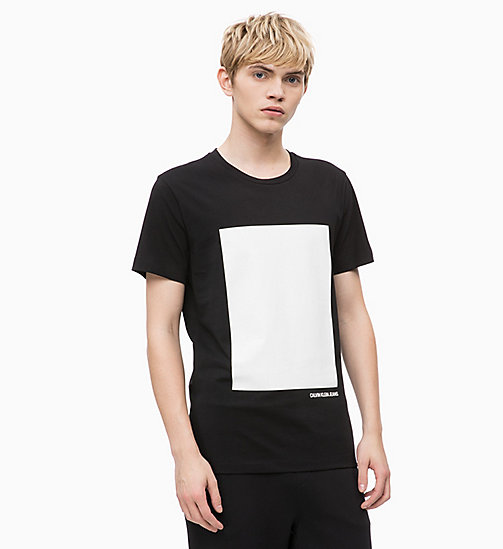 CALVIN KLEIN JEANS Slim Printed T-shirt - CK BLACK - CALVIN KLEIN JEANS NEW IN - main image