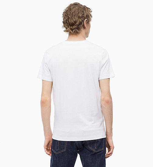CALVIN KLEIN JEANS Slim Printed T-shirt - BRIGHT WHITE - CALVIN KLEIN JEANS CLOTHES - detail image 1