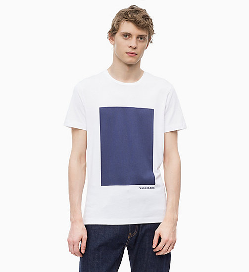 CALVIN KLEIN JEANS Slim Printed T-shirt - BRIGHT WHITE - CALVIN KLEIN JEANS NEW IN - main image