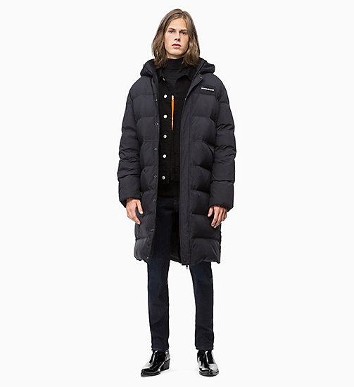 CALVIN KLEIN JEANS Veste-parka longue en doudoune matelassée - CK BLACK - CALVIN KLEIN JEANS IN THE THICK OF IT FOR HIM - image détaillée 1