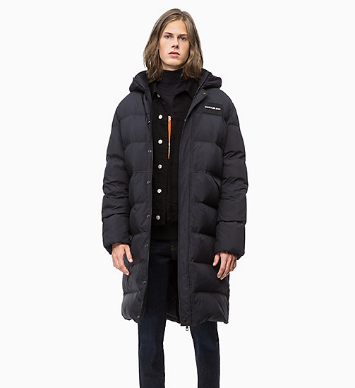 CALVIN KLEIN JEANS Quilted Down Long Parka Jacket - CK BLACK - CALVIN KLEIN JEANS IN THE THICK OF IT FOR HIM - main image