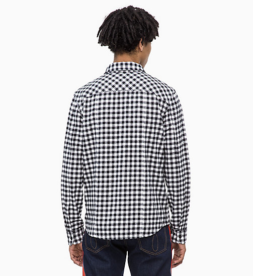 CALVIN KLEIN JEANS Gingham Check Shirt - BRIGHT WHITE - CALVIN KLEIN JEANS CLOTHES - detail image 1