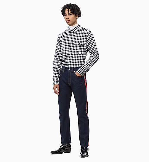 CALVIN KLEIN JEANS Gingham Check Shirt - BRIGHT WHITE - CALVIN KLEIN JEANS FALL DREAMS - detail image 1