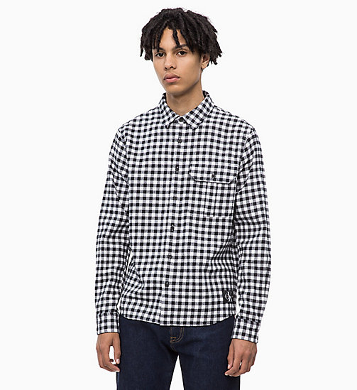 CALVIN KLEIN JEANS Gingham Check Shirt - BRIGHT WHITE - CALVIN KLEIN JEANS FALL DREAMS - main image