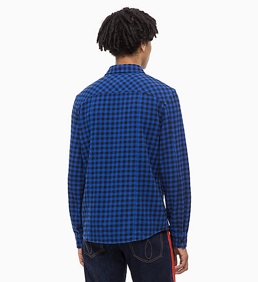 CALVIN KLEIN JEANS Gingham Check Shirt - SURF THE WEB - CALVIN KLEIN JEANS CLOTHES - detail image 1