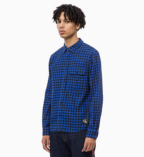CALVIN KLEIN JEANS Gingham Check Shirt - SURF THE WEB - CALVIN KLEIN JEANS CLOTHES - main image