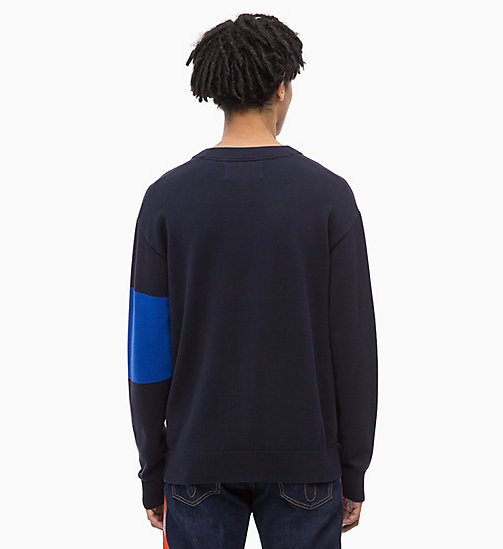 CALVIN KLEIN JEANS Colour Block Jumper - NIGHT SKY - CALVIN KLEIN JEANS NEW IN - detail image 1