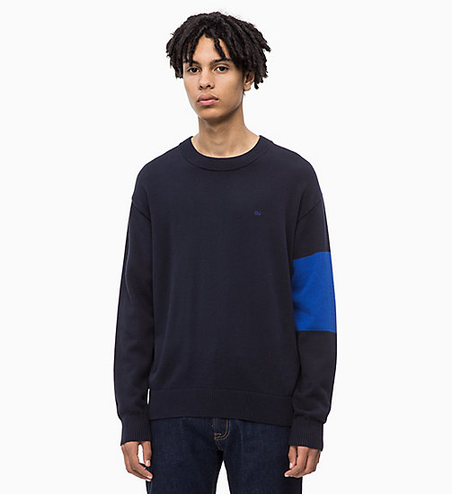 CALVIN KLEIN JEANS Colour Block Jumper - NIGHT SKY - CALVIN KLEIN JEANS NEW IN - main image