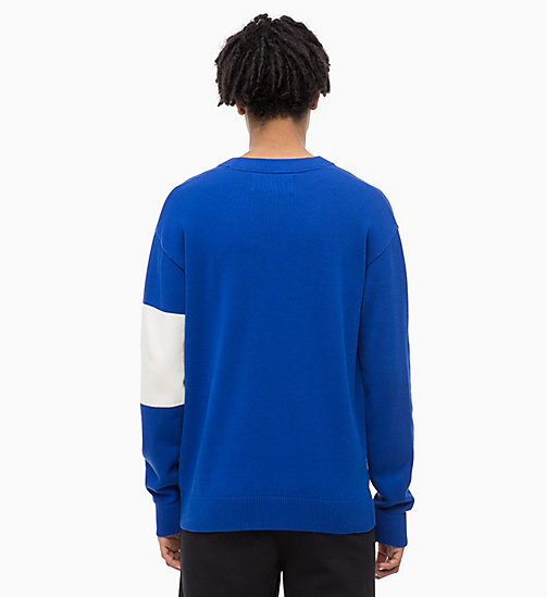 CALVIN KLEIN JEANS Colour Block Jumper - SURF THE WEB - CALVIN KLEIN JEANS NEW IN - detail image 1