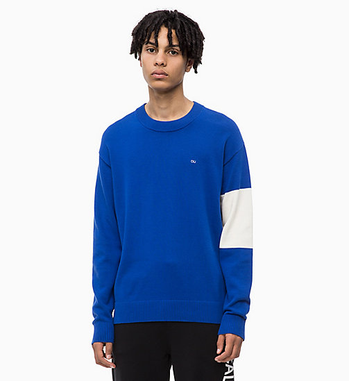 CALVIN KLEIN JEANS Colour Block Jumper - SURF THE WEB - CALVIN KLEIN JEANS NEW IN - main image