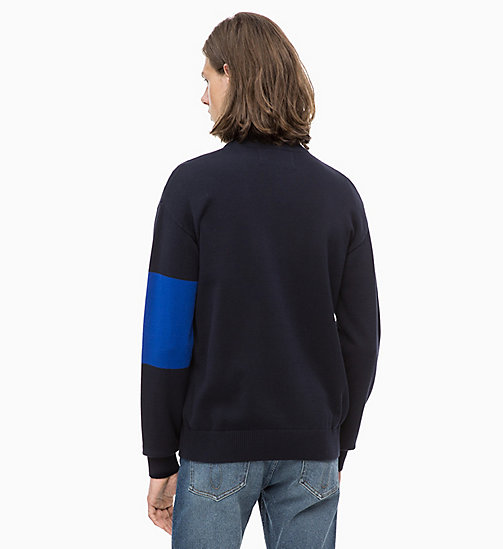 CALVIN KLEIN JEANS Colour Block Zip Cardigan - NIGHT SKY - CALVIN KLEIN JEANS NEW IN - detail image 1