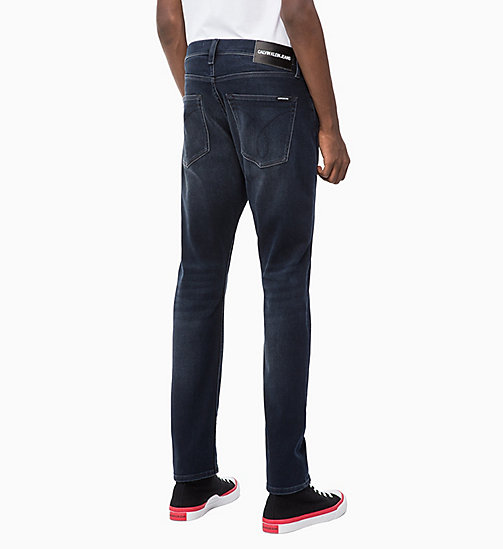 CALVIN KLEIN JEANS CKJ 056 Athletic Tapered Jeans - CORELLA BLUE BLACK (BRUSHED) - CALVIN KLEIN JEANS IN THE THICK OF IT FOR HIM - main image 1