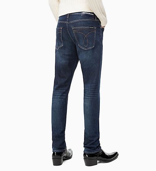 CALVIN KLEIN JEANS CKJ 056 Athletic Taper Jeans - DIGEREEDOO BLUE (BRUSHED) - CALVIN KLEIN JEANS IN THE THICK OF IT FOR HIM - detail image 1