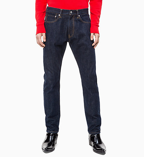 CALVIN KLEIN JEANS CKJ 056 Athletic Taper Selvedge Jeans - MAVIS RINSE - SELVEDGE - CALVIN KLEIN JEANS NEW ICONS - main image