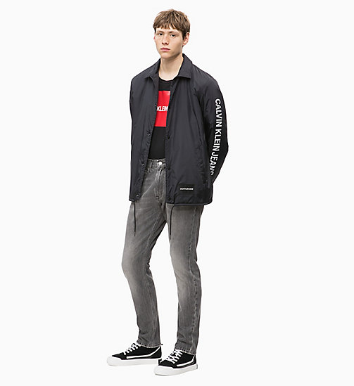 CALVIN KLEIN JEANS CKJ 056 Athletic Tapered Jeans - MOKA GREY - CALVIN KLEIN JEANS BOLD GRAPHICS - main image 1