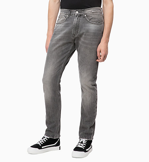 CALVIN KLEIN JEANS CKJ 056 Athletic Taper Jeans - MOKA GREY - CALVIN KLEIN JEANS DENIM SHOP - main image