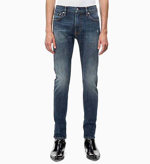 CALVIN KLEIN JEANS CKJ 026 Slim Selvedge Jeans - CROWN BLUE - SELVEDGE - CALVIN KLEIN JEANS CLOTHES - main image
