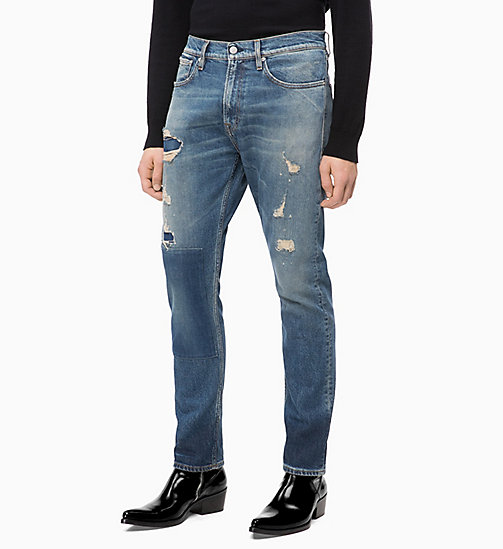 CALVIN KLEIN JEANS CKJ 056 Athletic Tapered Jeans - ROSE BOWL BLUE - CALVIN KLEIN JEANS VÊTEMENTS - image principale