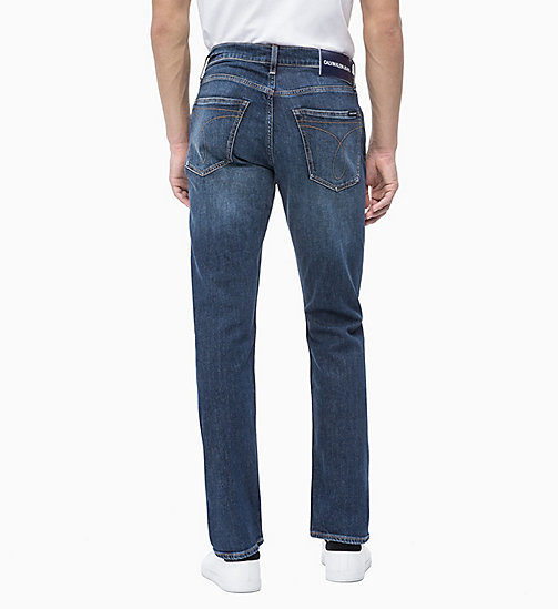CALVIN KLEIN JEANS CKJ 035 Straight Jeans - NEWMAN BLUE - CALVIN KLEIN JEANS THE DENIM INDEX - подробное изображение 1