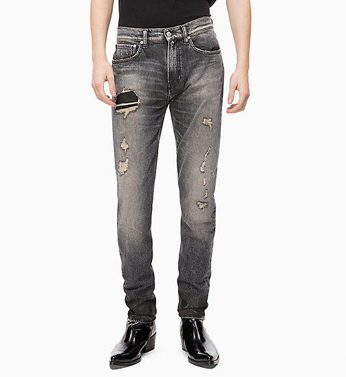 CALVIN KLEIN JEANS CKJ 016 Skinny Jeans - STALKER NO PATCH BLACK - CALVIN KLEIN JEANS BOLD GRAPHICS - immagine principale
