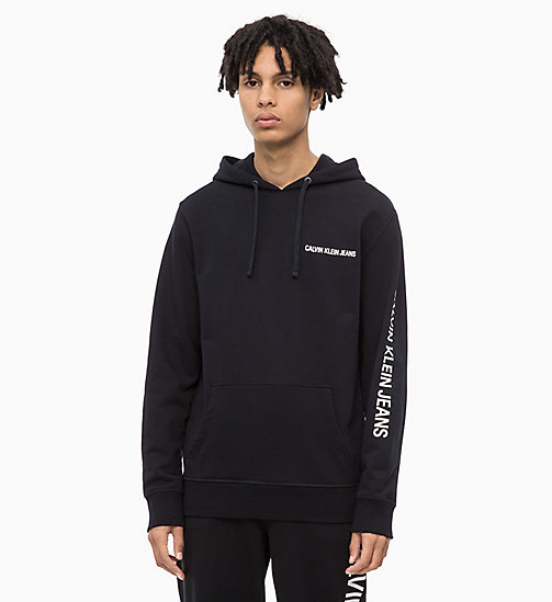 CALVIN KLEIN JEANS Logo Hoodie - CK BLACK - CALVIN KLEIN JEANS The New Off-Duty - main image