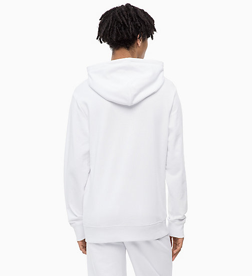 CALVIN KLEIN JEANS Logo Hoodie - BRIGHT WHITE - CALVIN KLEIN JEANS The New Off-Duty - detail image 1