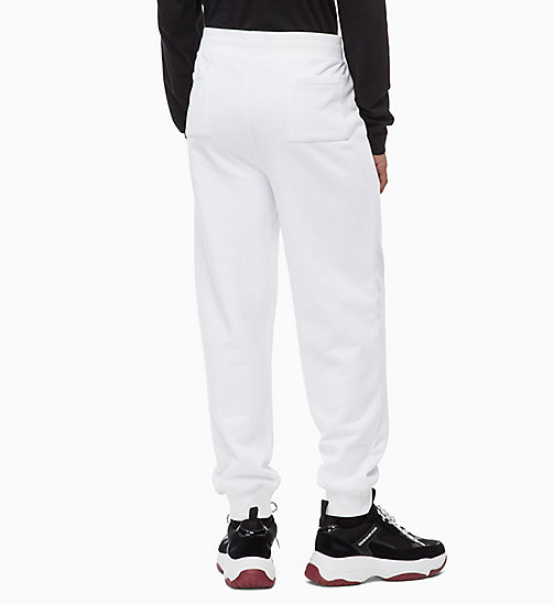 CALVIN KLEIN JEANS Logo Joggers - BRIGHT WHITE - CALVIN KLEIN JEANS BOLD GRAPHICS - detail image 1