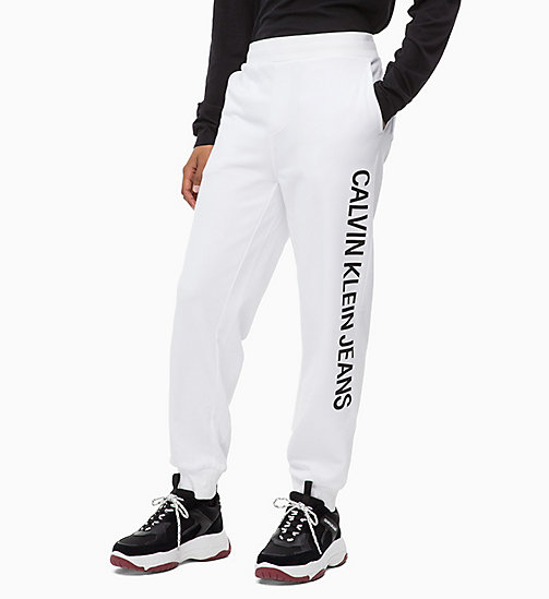 CALVIN KLEIN JEANS Logo Joggers - BRIGHT WHITE - CALVIN KLEIN JEANS BOLD GRAPHICS - main image