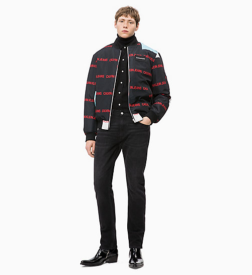 CALVIN KLEIN JEANS Multi Logo-Bomberjacke - AOP BLACK BASE - CALVIN KLEIN JEANS IN THE THICK OF IT FOR HIM - main image 1