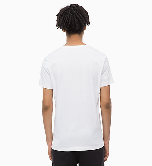 CALVIN KLEIN JEANS Slim Fit Logo-T-Shirt - BRIGHT WHITE / TOMATO - CALVIN KLEIN JEANS NEW IN - main image 1