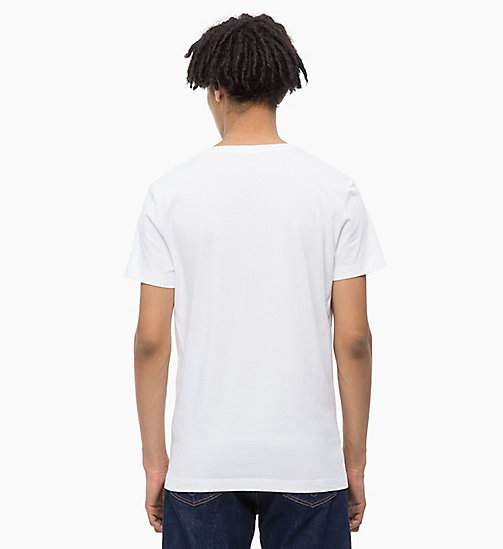 CALVIN KLEIN JEANS Slim Fit Logo-T-Shirt - BRIGHT WHITE / RED - CALVIN KLEIN JEANS BOLD GRAPHICS - main image 1