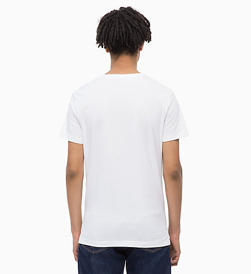 CALVIN KLEIN JEANS Slim Logo T-shirt - WHITE/SURF THE WEB - CALVIN KLEIN JEANS BOLD GRAPHICS - detail image 1