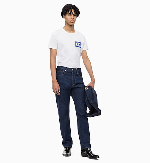 CALVIN KLEIN JEANS T-shirt con logo slim - WHITE/SURF THE WEB - CALVIN KLEIN JEANS BOLD GRAPHICS - dettaglio immagine 1