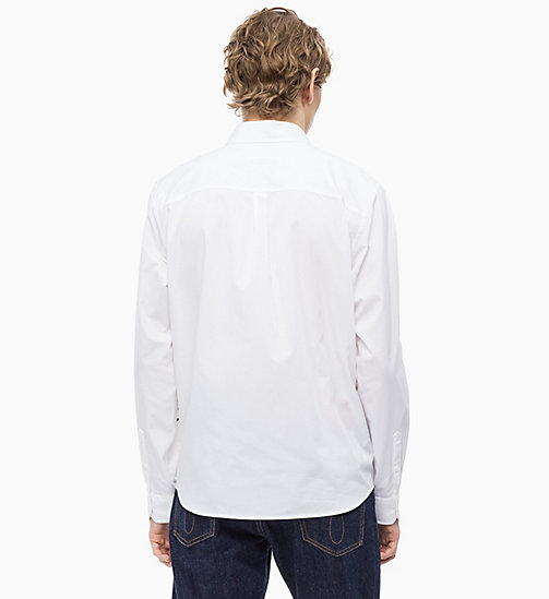 CALVIN KLEIN JEANS Cotton Twill Logo Shirt - BRIGHT WHITE / BLACK - CALVIN KLEIN JEANS The New Off-Duty - detail image 1