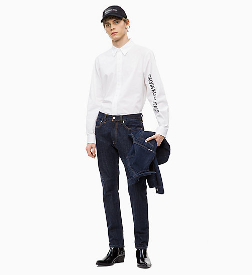 CALVIN KLEIN JEANS Logo-Hemd aus Baumwoll-Twill - BRIGHT WHITE / BLACK - CALVIN KLEIN JEANS The New Off-Duty - main image 1