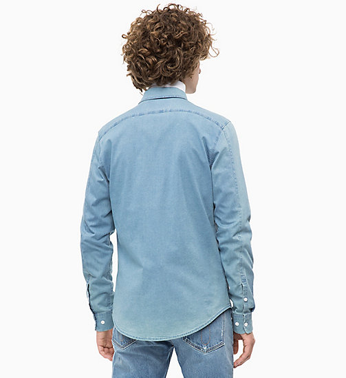 CALVIN KLEIN JEANS Slim Chambray Shirt - LIGHT INDIGO - CALVIN KLEIN JEANS NEW IN - detail image 1