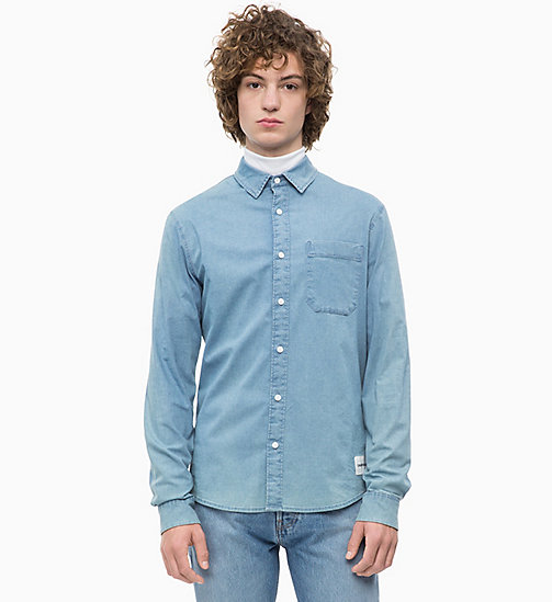 CALVIN KLEIN JEANS Slim Chambray Shirt - LIGHT INDIGO - CALVIN KLEIN JEANS NEW IN - main image