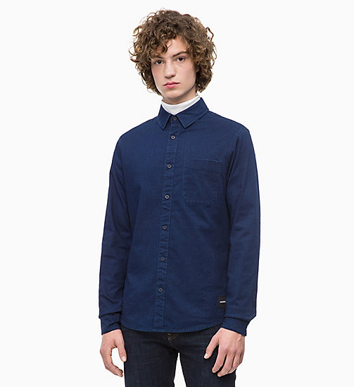 CALVIN KLEIN JEANS Slim Chambray Shirt - DARK INDIGO - CALVIN KLEIN JEANS NEW IN - main image