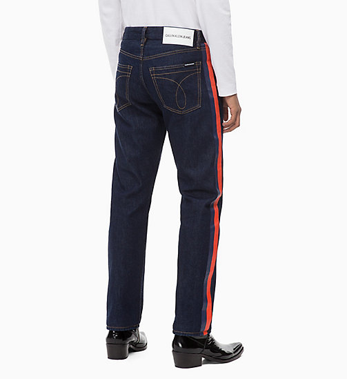 CALVIN KLEIN JEANS CKJ 035 Straight Taped Jeans - PLASTIC RINSE -  IN THE THICK OF IT FOR HIM - dettaglio immagine 1