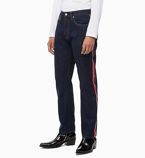 CALVIN KLEIN JEANS CKJ 035 Straight Taped Jeans - PLASTIC RINSE - CALVIN KLEIN JEANS IN THE THICK OF IT FOR HIM - image principale