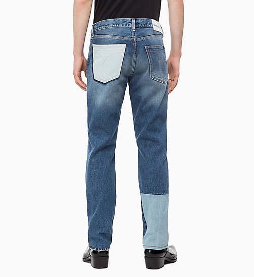 CALVIN KLEIN JEANS CKJ 035 Straight Patched Jeans - SHANON BLUE - CALVIN KLEIN JEANS THE DENIM INDEX - подробное изображение 1